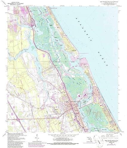 Amazon YellowMaps New Smyrna Beach FL topo map 1 Scale