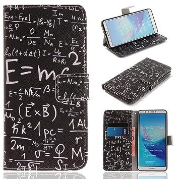 Bonroy Huawei Y9 2018 Tasche Leder Flip Case Brief Amazonde