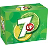 7UP Cans, Natural Refreshing Lemon-Lime Taste, 355 milliliters (Pack of 12) - Packaging May Vary