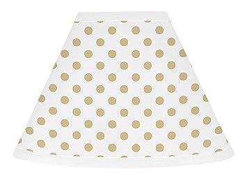 Amazon.com: Sweet Jojo Designs – Lámpara de oro y blanco con ...