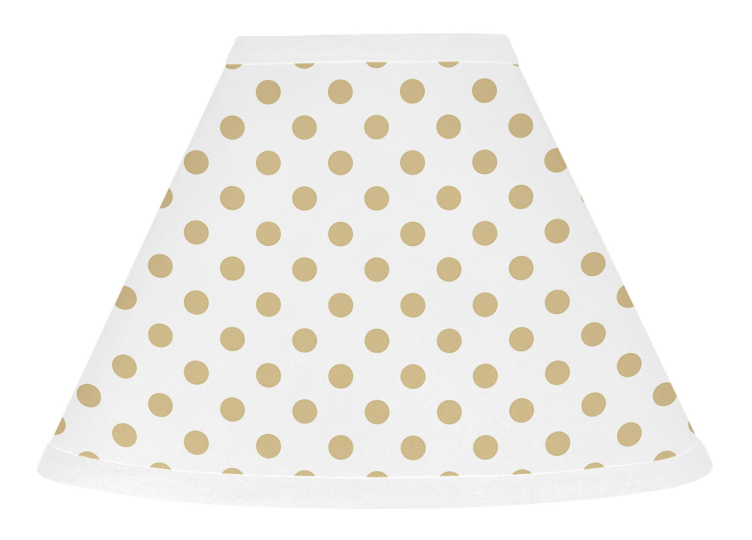 Sweet Jojo Designs Gold and White Polka Dot Lamp Shade for Butterfly Floral Collection