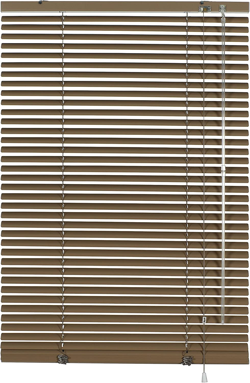 Gardinia 6289 - Persiana (aluminio, láminas de 25mm de grosor, 140x175 cm), color marrón