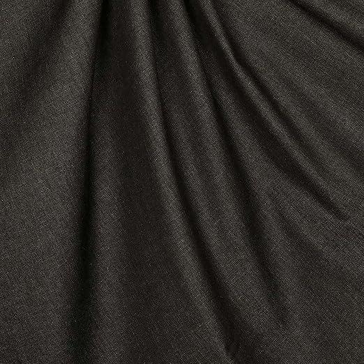 Tela Chambray Uni Pur algodón – negro: Amazon.es: Hogar