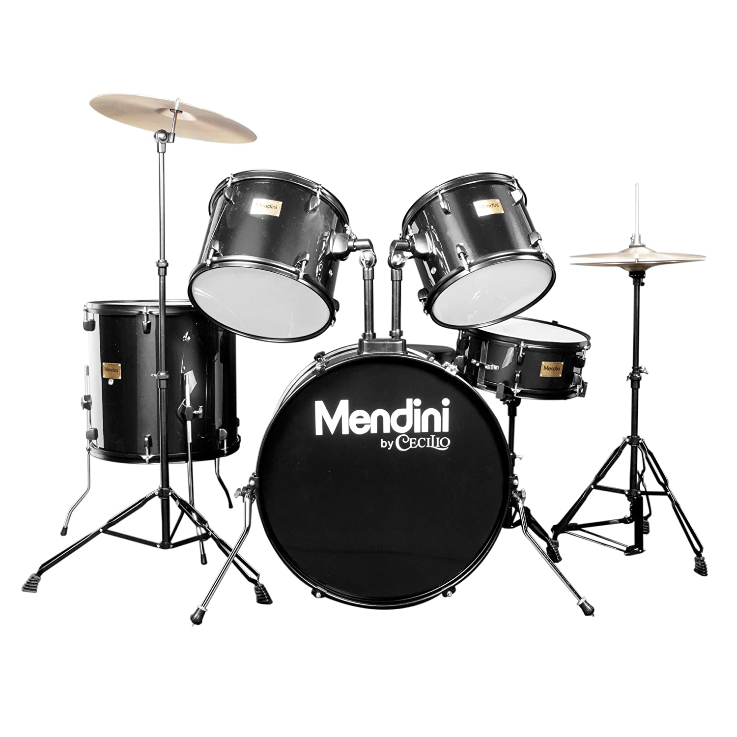 Mendini MDS80-BK 5-Piece Drum Kit