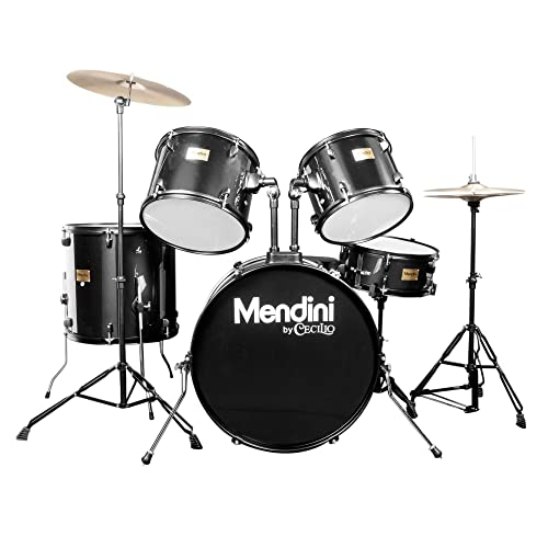 Mendini by Cecilio Complete Full Size 5-Piece Adult Drum Set