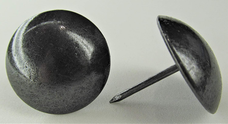 ComfortStyle Premium Upholstery Tacks, 1-inch Diameter Nailhead Pins, Large Decorative Trim for Furniture (50, Black Pearl)
