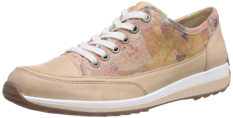 ara Hampton - zapatos con cordones de cuero mujer 38 EU|Beige - Beige (Beige,plush 25)