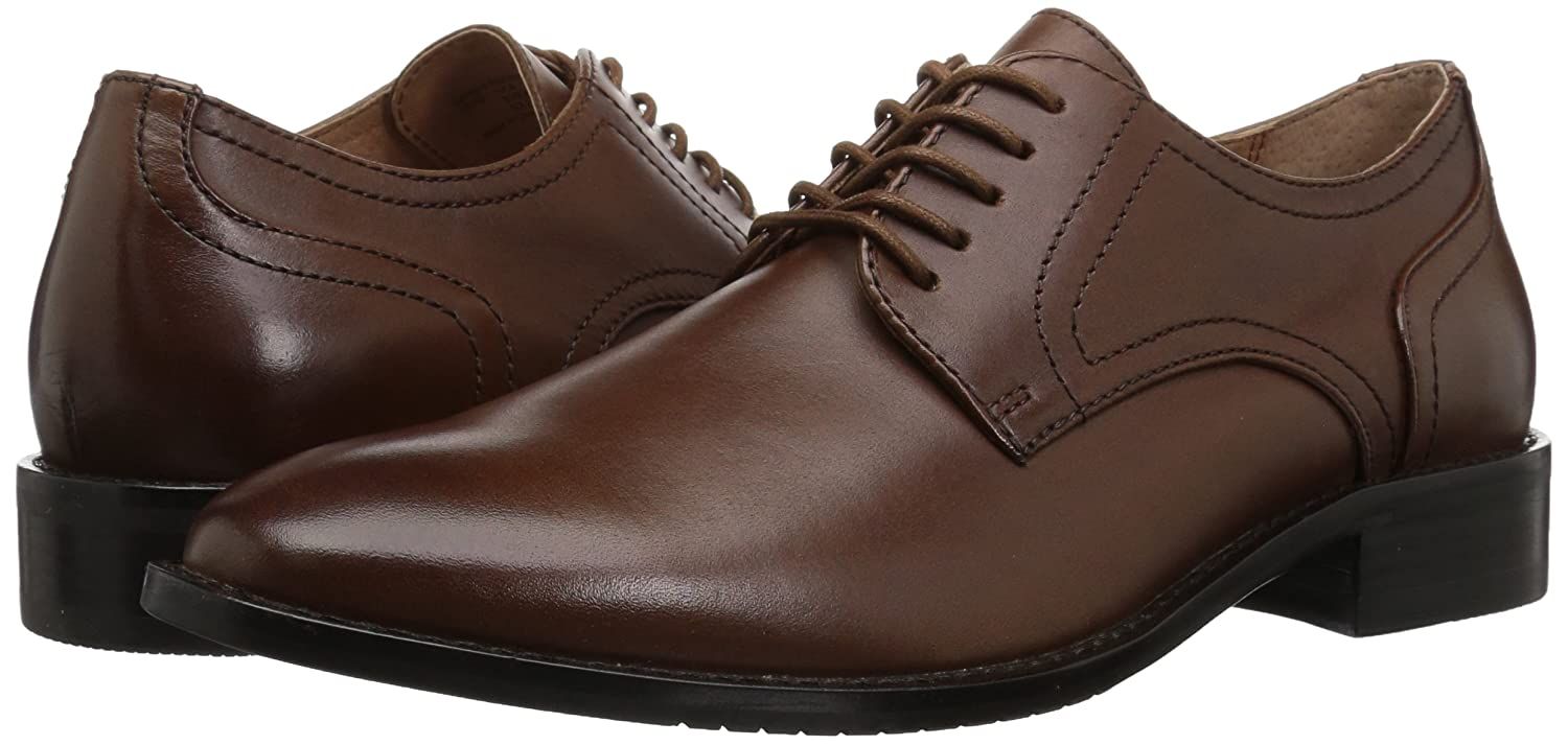206 Collective Mens Concord Leather Plain-Toe Oxford Brand
