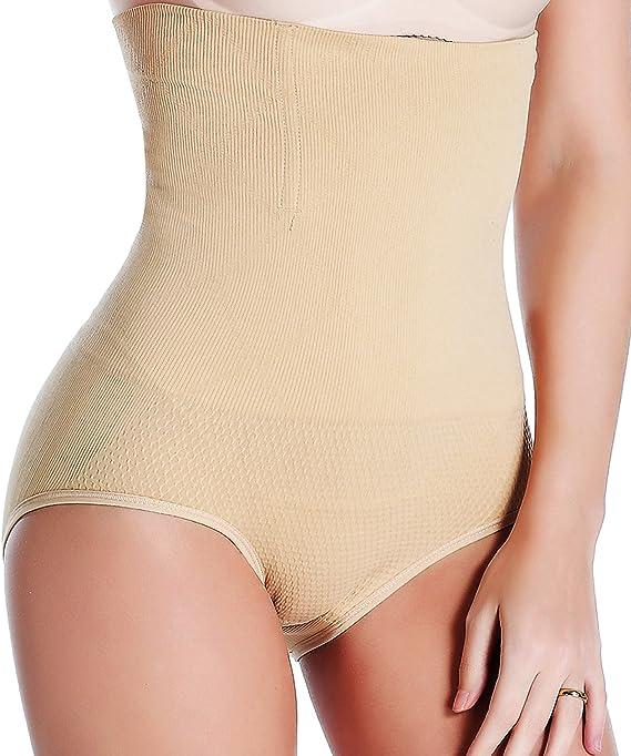 HHYSPA 2 PCS Shapewear per Donne Waist Trainer Tummy Control Butt Lifter Panties Hi-Waist Short Stomach Body Shaper Cincher Girdle XL Black