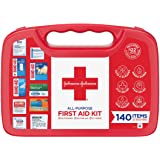 Johnson & Johnson All-Purpose First Aid Kit, Portable Compact First Aid Set for Minor Cuts, Scrapes, Sprains & Burns…
