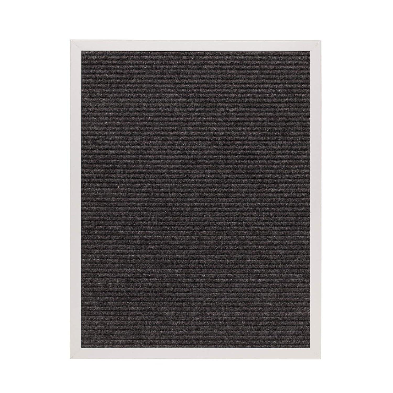 フェルトレターボード16 x 20 with 290文字&記号+バッグ グレイ B0771VFB92 グレー グレー