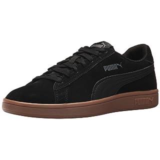 PUMA Men's Smash v2 Sneaker, Black, 12 M US