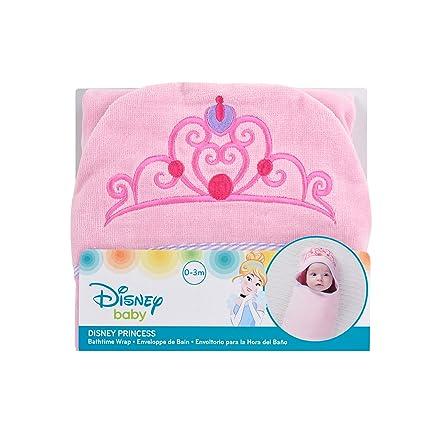 Disney Baby Princess Bath Swaddler, Pink