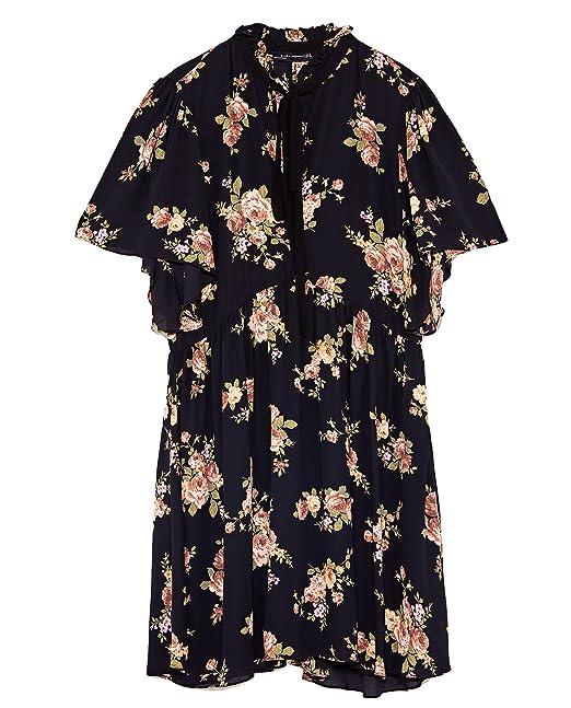 72b440ce Zara Women Mini dress with bow 8194/750 (X-Large): Amazon.ca ...
