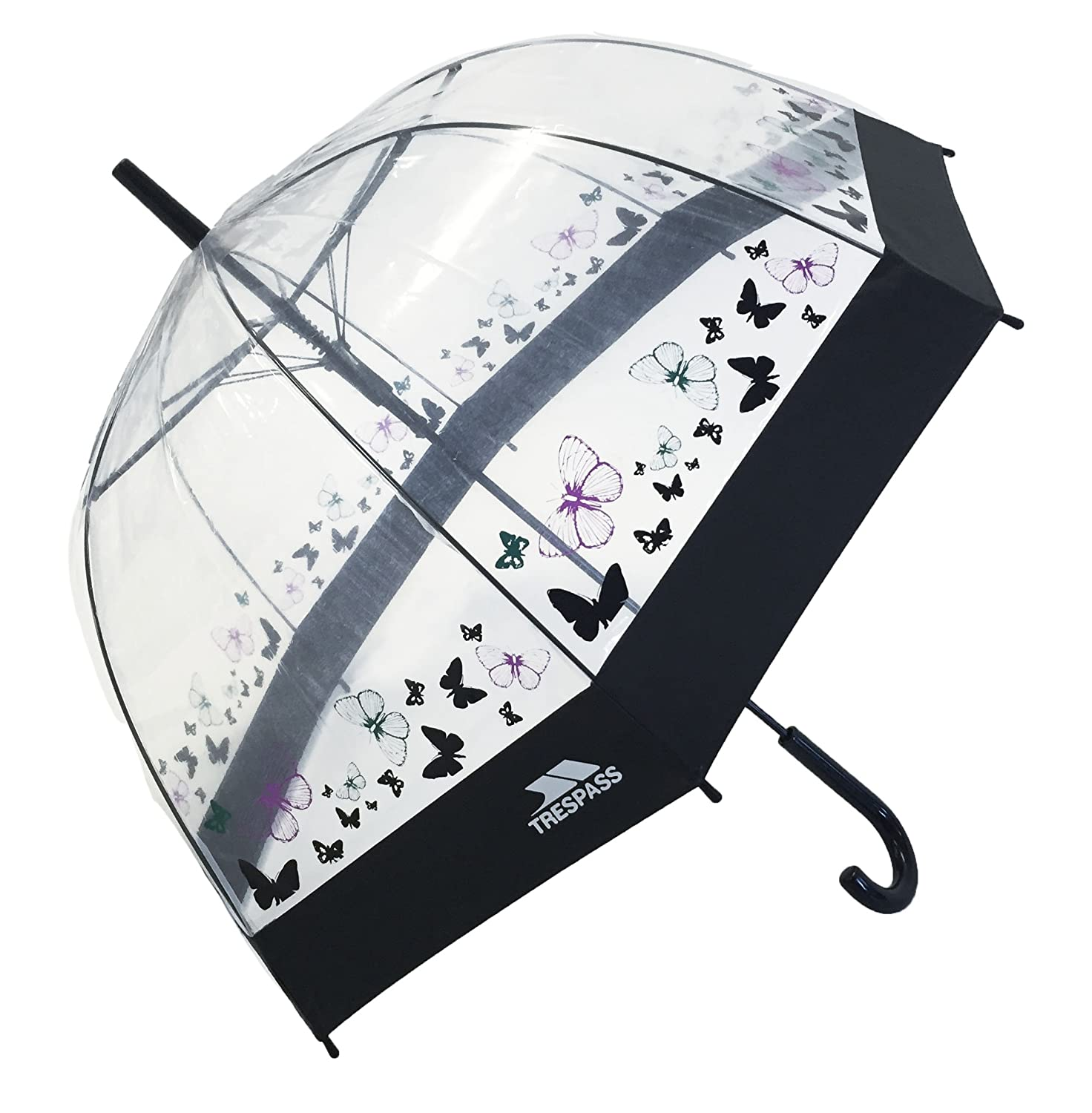 8685f71749da0 Trespass Papillon - Parapluie transparent - Adulte