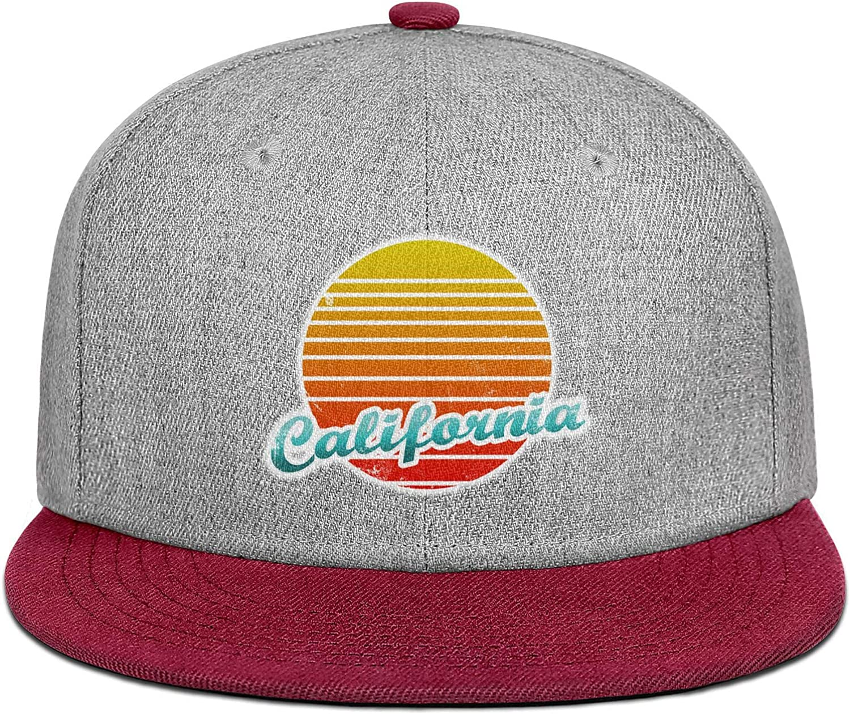 Mens Womens Trucker Hat California Vintage Logo Snapback Casual Caps