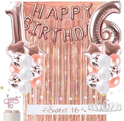 Rose Gold Luxury Birthday Decoration Sweet Sixteen Birthday Sash
