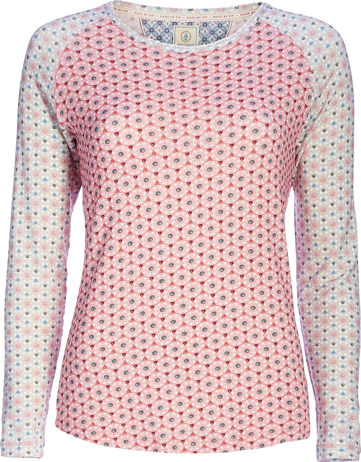 Pip Tommy Buttoms Up Top Long Sleeve / Schlafanzugoberteil - Pink