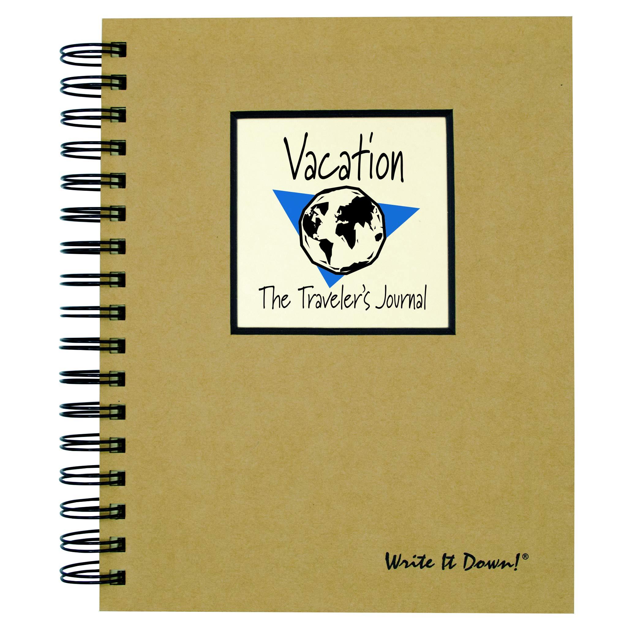 Journals Unlimited Vacation, Traveler's Journal, Kraft Hard Cover Notebook