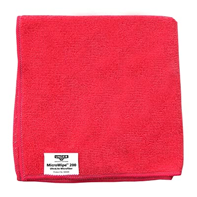 "Unger ME40R MicroWipe Ultralite Microfiber Cloth, 16"" Length x 16"" Width, Red (Case of 10): Industrial & Scientific"