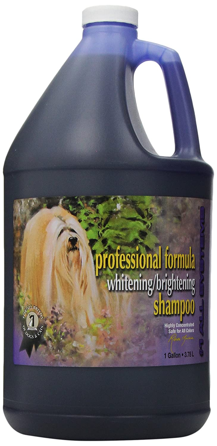 #1 All Systems Professional Formula Whitening Dog and Cat Shampoo, 1-Gallon PetEdge Dealer Services AL85419