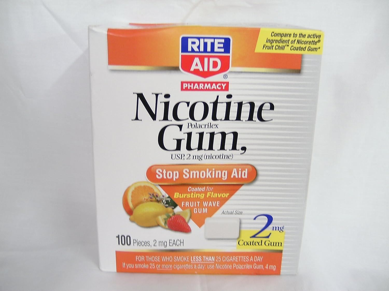 Amazon.com: Rite Aid Nicotine Gum Fruit Wave Flavor 4 Mg 100 Pieces ...