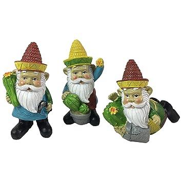 Good Cappyu0027s Cool Crafts Los Gnombres Mexican Garden Gnomes  3 Statues