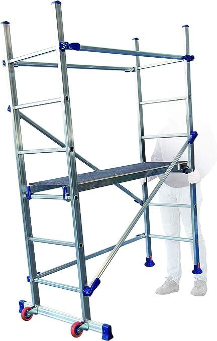 FACAL P6 - Estructura móvil de aluminio para todos los trabajos en casa y con una altura de trabajo máxima de 2,90 m: Amazon.es: Bricolaje y herramientas