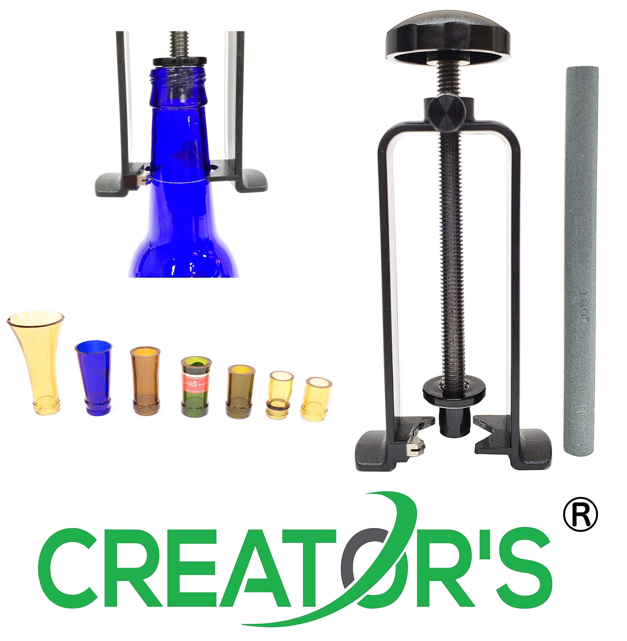 Creator's Glass Bottle Neck Cutter DIY Machine Includes Abrasive Stone CBNC-USA by Creator's