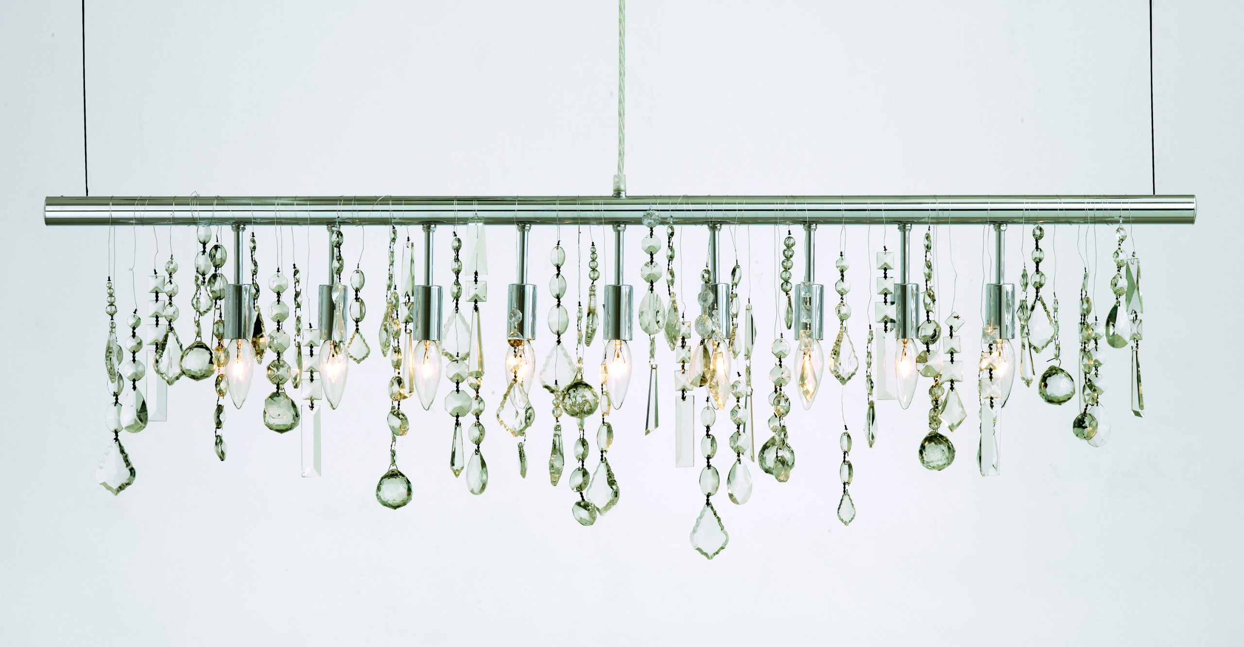Crystal Linear Chrome Pendant Light by Nuevo - HGML158