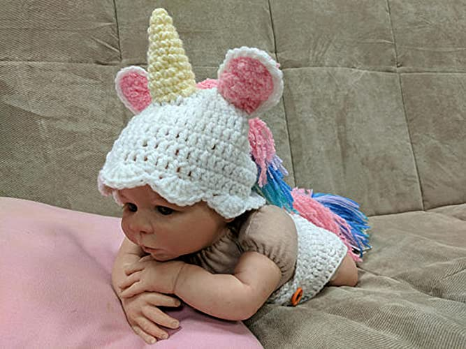 Amazoncom Crochet Newborn Unicorn Outfit Newborn Photo Props