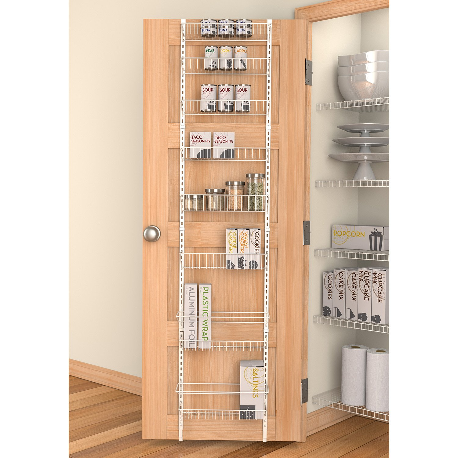 Bathroom cabinet door organizer - Panacea Grayline Back Of The Door Organizer White