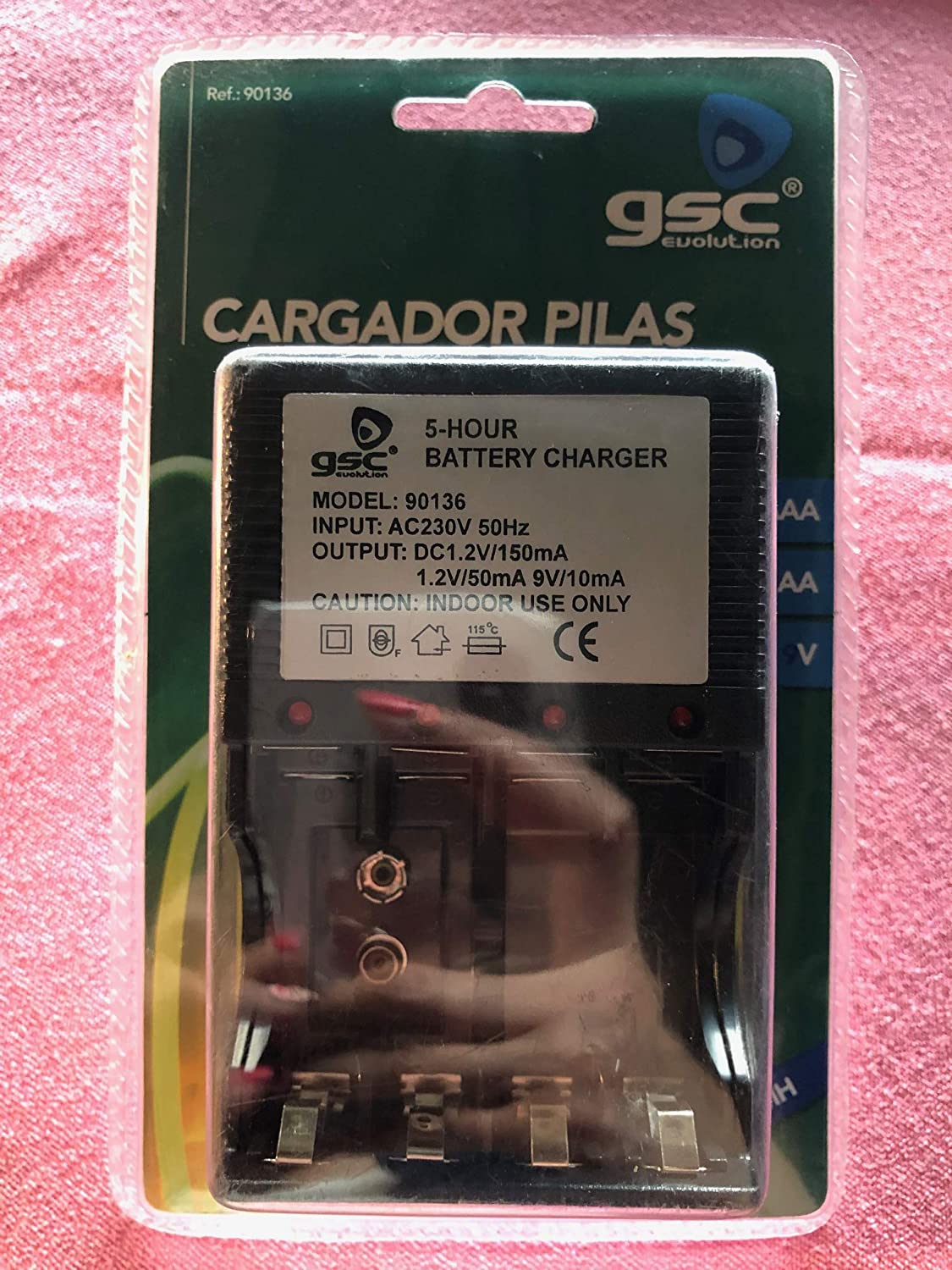 Cargador pilas, R3AAA, R6AA, 9V, 5-hour Battery charger ...