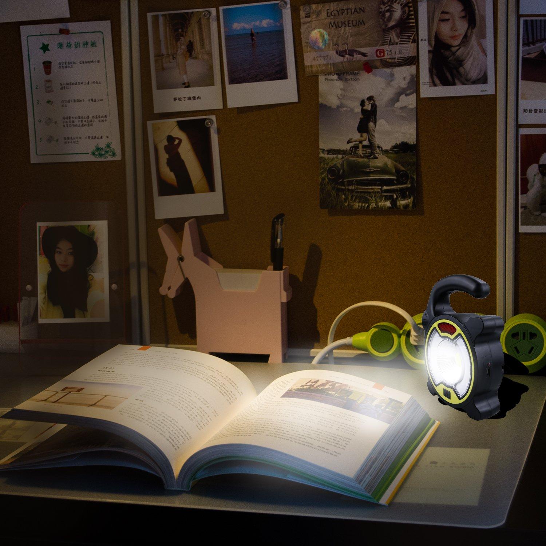 Yokunat Lampe Laterne Au/ßenleucht Notfallleuchte Stromausf/ällen Wandern Angeln Notfall Gartenlaterne im Auto Schuppen Dachzimmer Garage Zelt Hurrikan mit 4 Licht Modi Tragbare Camping LED Licht