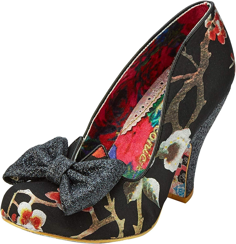 Irregular Choice Matinee Black Floral High Heel Shoes A