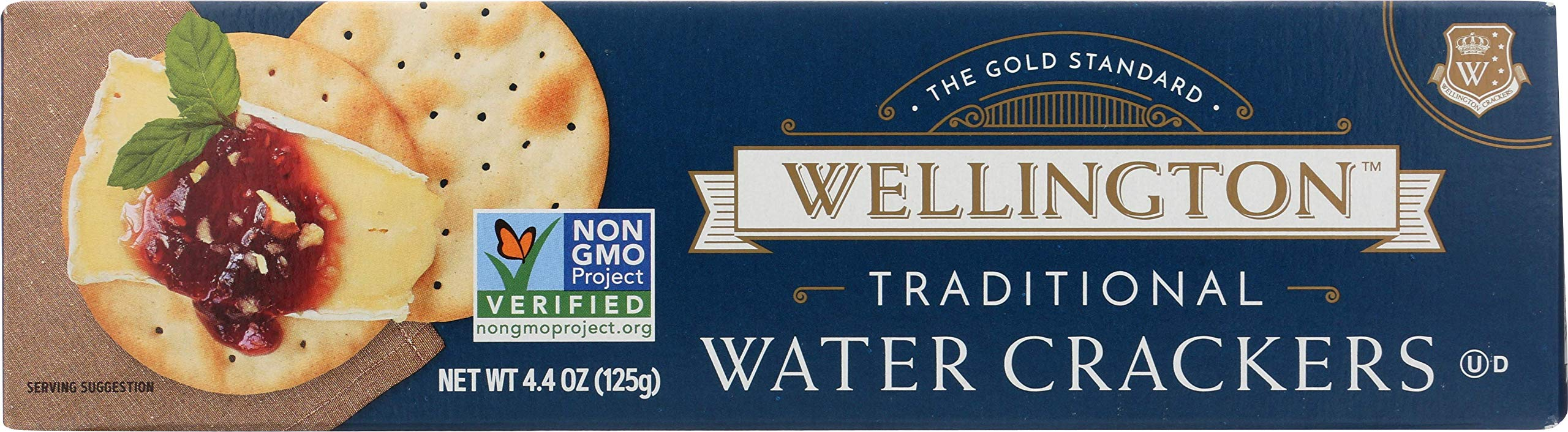 Wellington Traditional Water Crackers, 4.4-Ounces (Pack of 12) by Wellington