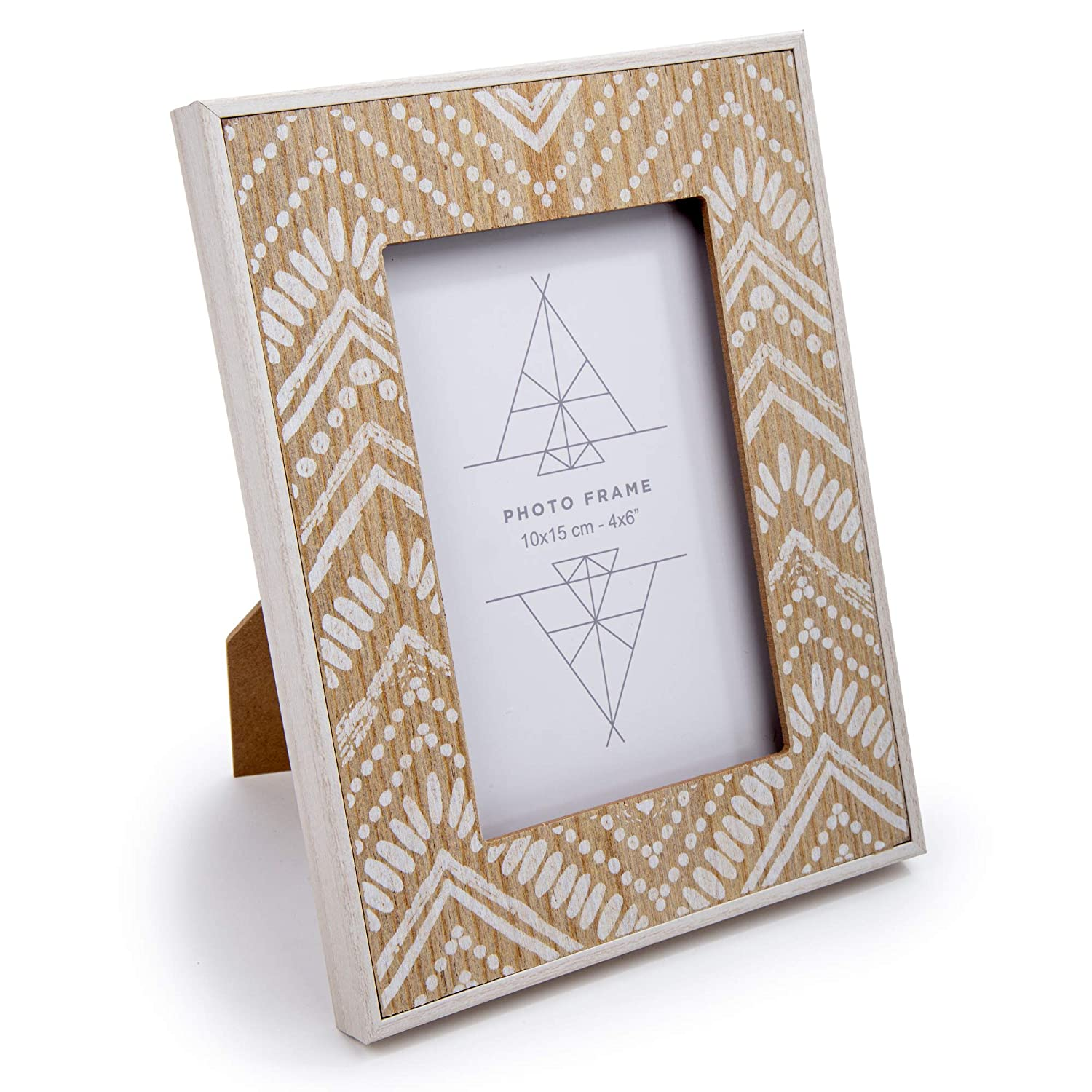 Ivory Truu Design 4 x 6 inches Boho Wooden Picture Frame