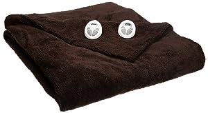 Sunbeam Heated Blanket | LoftTec, 10 Heat Settings, Walnut, Queen