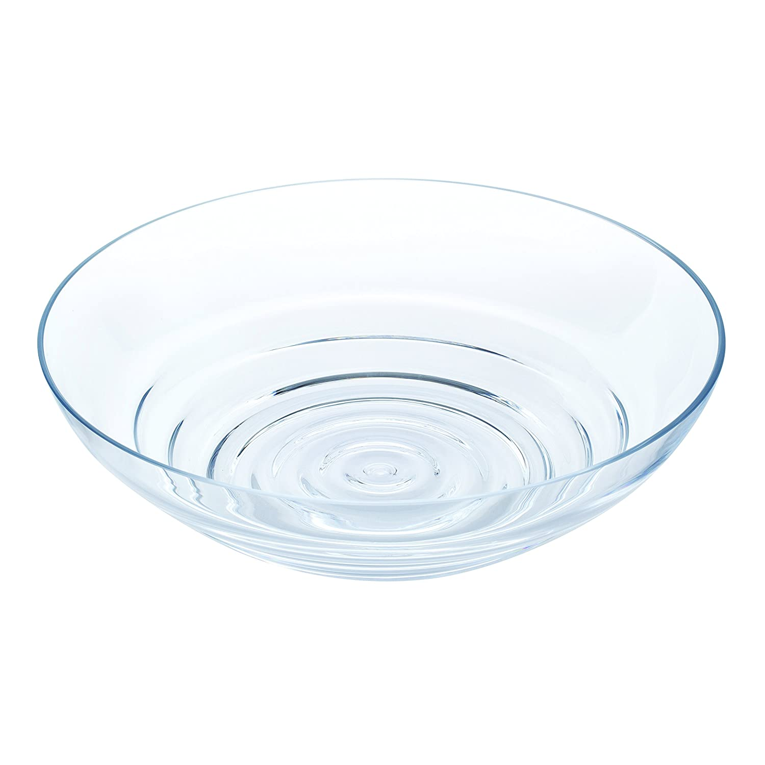 Dartington Crystal Wibble Centrepiece Bowl, Glass, Clear BD3074/CL