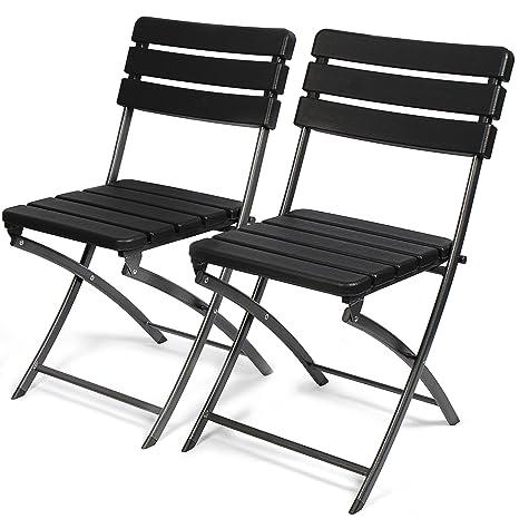 Sedie In Plastica Pieghevoli.Park Alley 4250772358977 2 Sedie Da Giardino Pieghevoli In Plastica