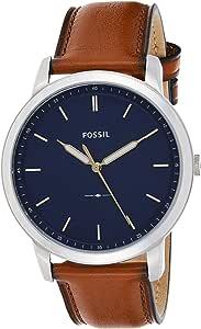 Fossil Men's Minimalist Stainless Steel Slim Casual Quartz Watch