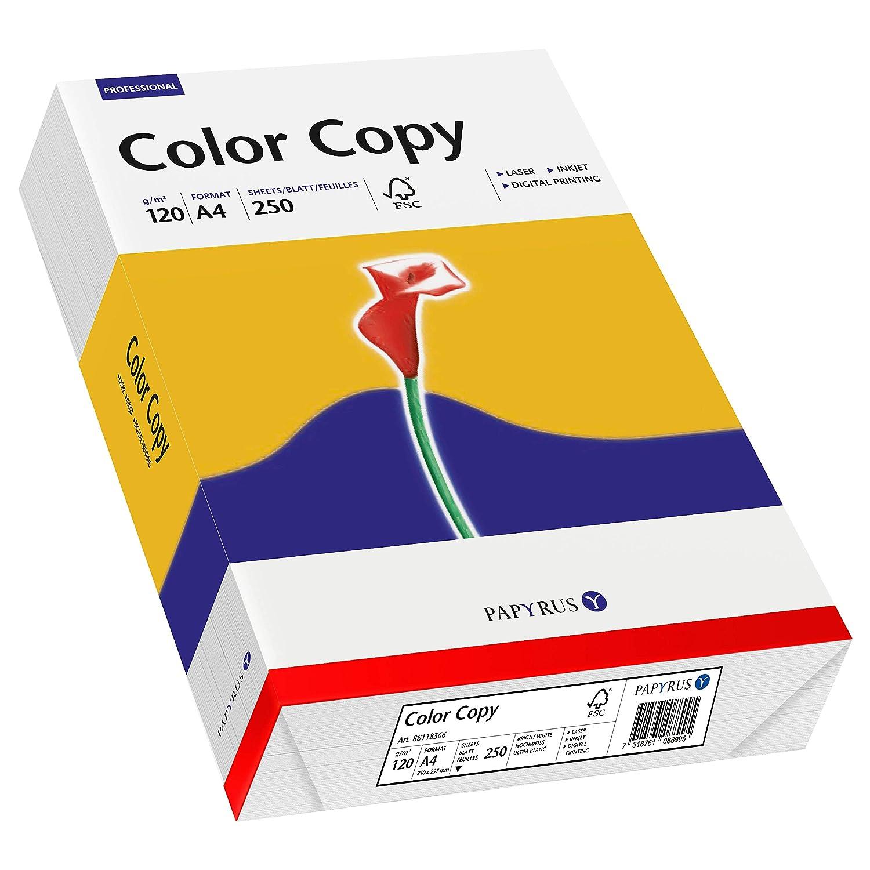 120 g 250 fogli Color Copy A 4 bianco satinato