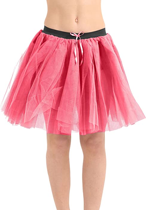 Approx 18 Inches Long New Womens Ladies CRAZY CHICK 3 Layers Tutu Skirt