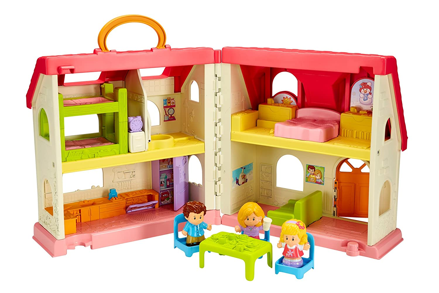 Fisher price doll house furniture - Amazon Com Fisher Price Little People Surprise Sounds Home Toys Games