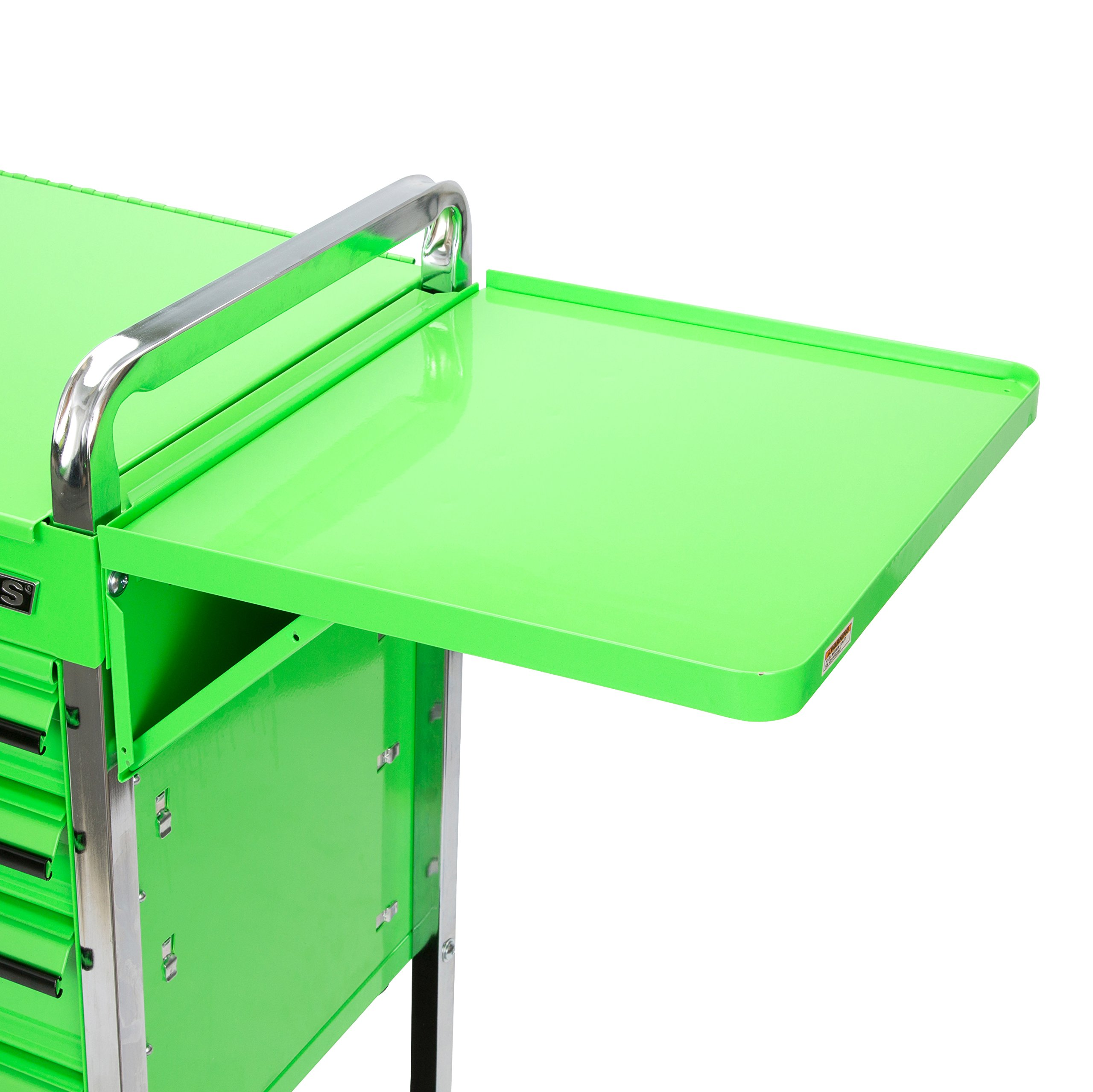 Professional Service Cart - 5 Drawer and 1 Tray (Green) by OEMTOOLS (Image #6)