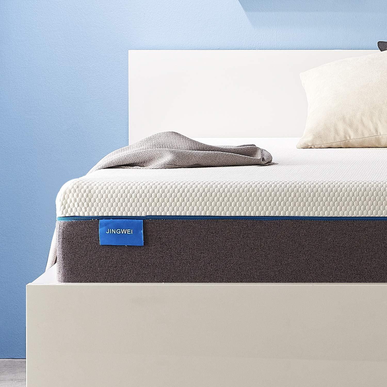 Twin Size Mattress, JINGWEI 5 Inches Cooling-Gel Memory Foam Mattress Bed in a Box, Certified Foam, Pressure Relief Supportive, Medium Firm, 39 X 75 X 5 inches
