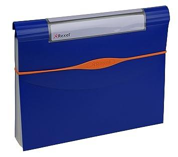 Rexel Optima 2102 484 - Archivador en acordeón (13 divisiones), color azul - Lote de 10 unidades