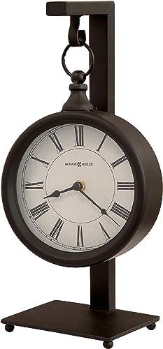 Howard Miller Loman Mantel Clock 635-200 Vintage Round with Quartz Movement
