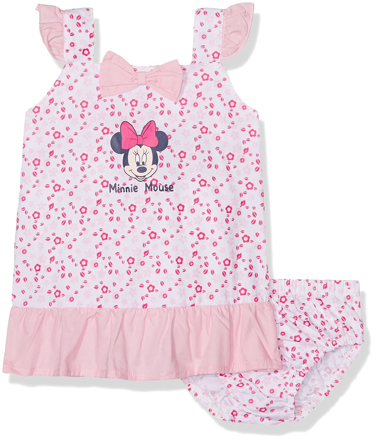 369cc1f1f Disney Baby Girl's Minnie Mouse Romper, Pink, 18-24 Months (Manufacturer  Size:24 Months): Amazon.co.uk: Clothing