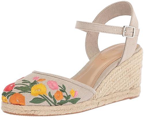 11aa1e821 Lauren Ralph Lauren Women's Hayleigh Espadrille Wedge Sandal, Flax, ...